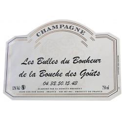 Champagne avec étiquettes personnalisées