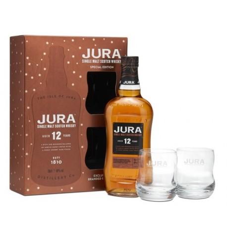 Coffret whisky Jura 12 ans + 2 verres