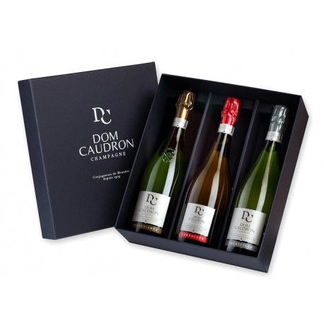 Dom Caudron - Coffret 3 bouteilles - jecreemacave.com
